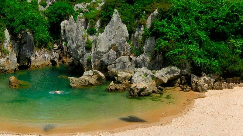 Playa Gulpiyuri, Llanes